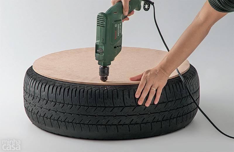 DIY Puff de pneu reciclado (3/6)