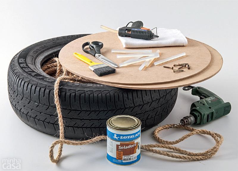 DIY Puff de pneu reciclado (2/6)
