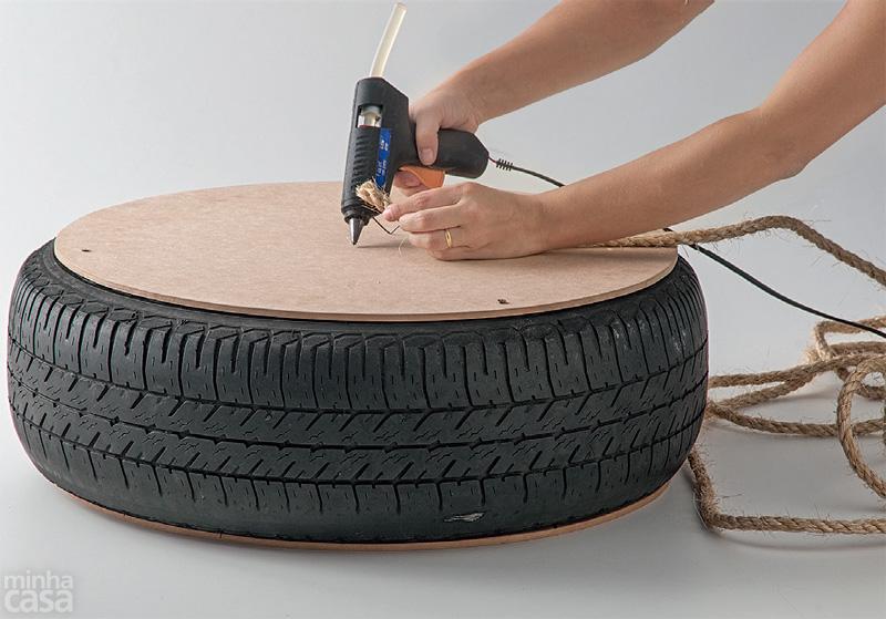 DIY Puff de pneu reciclado (5/6)