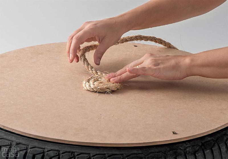 DIY Puff de pneu reciclado (6/6)