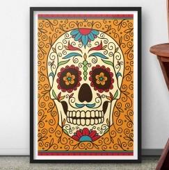 quadro-caveira-mexicana